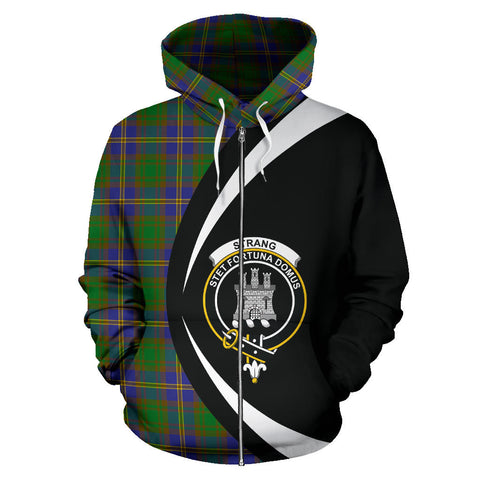 (Custom your text) Strange of Balkaskie Tartan Circle Zip Hoodie