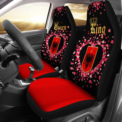 Albania Car Seat Cover Couple King/Queen (Set of Two) | Valentine | 1sttheworld