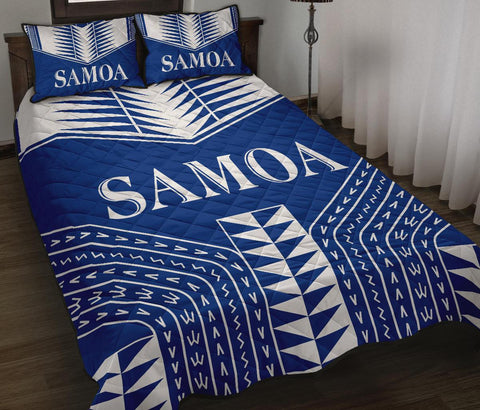 Image of Manu Samoa Quilt Bed Set - Blue Version - BN12