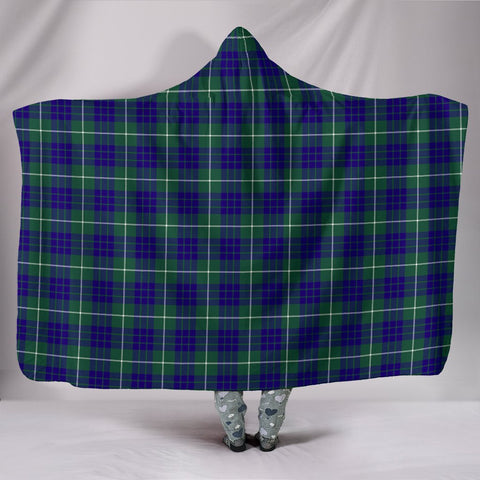 Image of Hamilton Hunting Modern, hooded blanket, tartan hooded blanket, Scots Tartan, Merry Christmas, cyber Monday, xmas, snow hooded blanket, Scotland tartan, woven blanket