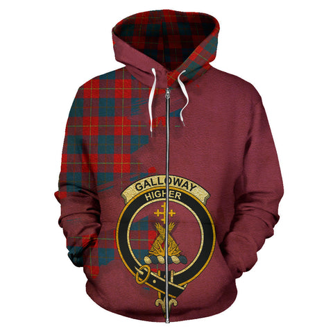 Galloway Red  Royal All Over Hoodie (Zip)