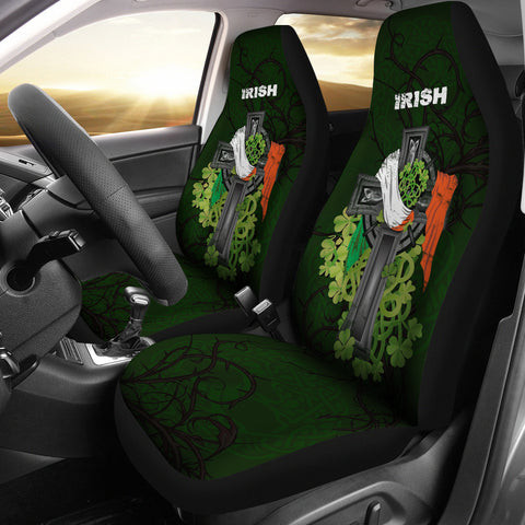 Irish Car Seat Cover Shamrock Celtic Cross | High Quality | Love The World