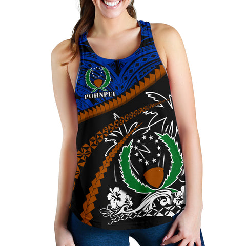 Image of Pohnpei Women Racerback Tank - Road to Hometown K4