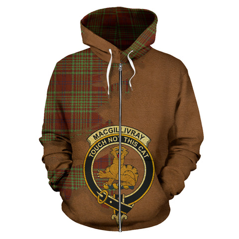 Image of MacGillivray Hunting Ancient  Royal All Over Hoodie (Zip)