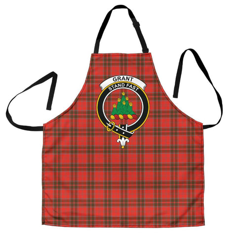 Grant Weathered Tartan Clan Crest Apron