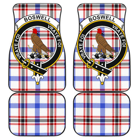 Image of Boswell Modern  Tartan Clan Badge Car Floor Mat 4 Pieces K7