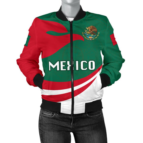 Image of Mexico Women Bomber Jacket Proud Version | 1sstheworld