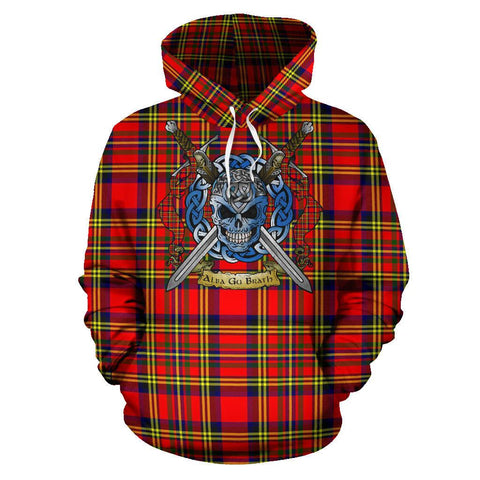 Hepburn Tartan Hoodie Celtic Scottish Warrior A79 | Over 500 Tartans | Clothing | Apaprel