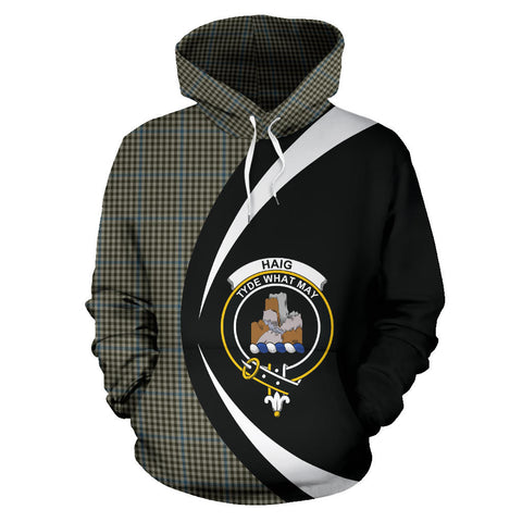 Image of (Custom your text) Haig Check Tartan Circle Hoodie