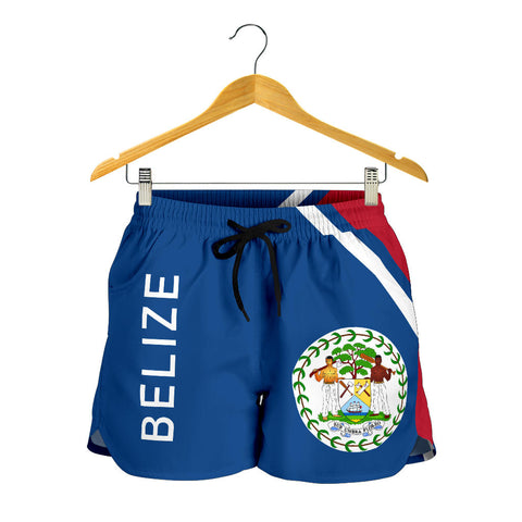 Image of Belize Women's Shorts - Curve Version font