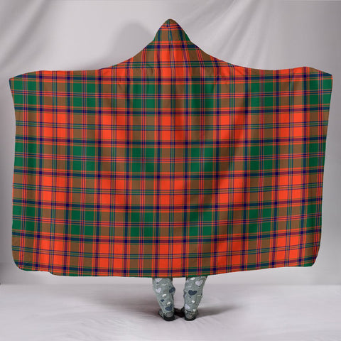 Image of Stewart of Appin Ancient, hooded blanket, tartan hooded blanket, Scots Tartan, Merry Christmas, cyber Monday, xmas, snow hooded blanket, Scotland tartan, woven blanket