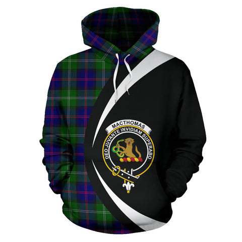 (Custom your text) MacThomas Modern Tartan Circle Hoodie