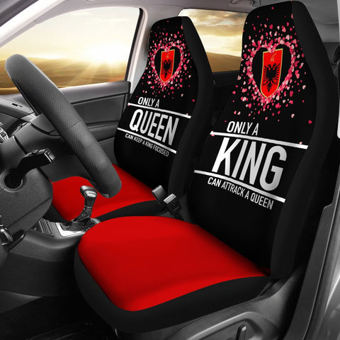 Albania Car Seat Covers Couple Valentine Nothing Make Sense (Set of Two) | 1sttheworld