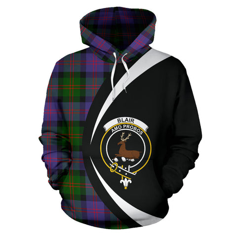 (Custom your text) Blair Modern Tartan Circle Hoodie