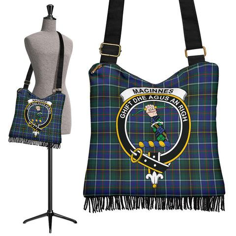 Image of MacInnes Modern Tartan Clan Badge Boho Handbag