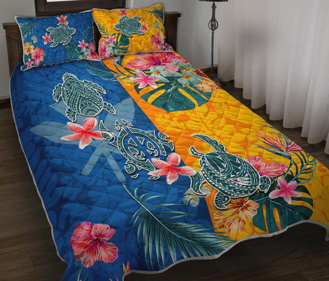 Hawaii Quilt Bed Set Polynesian Turtle Special 1 | 1sttheworld