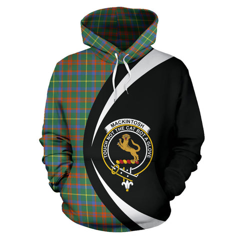 Image of (Custom your text) MacKintosh Hunting Ancient Tartan Circle Hoodie
