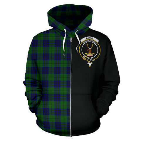 Image of Keith Modern Tartan Hoodie Half Of Me | 1sttheworld.com