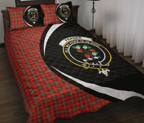 Fraser Weathered Tartan Quilt Bed Set Circle