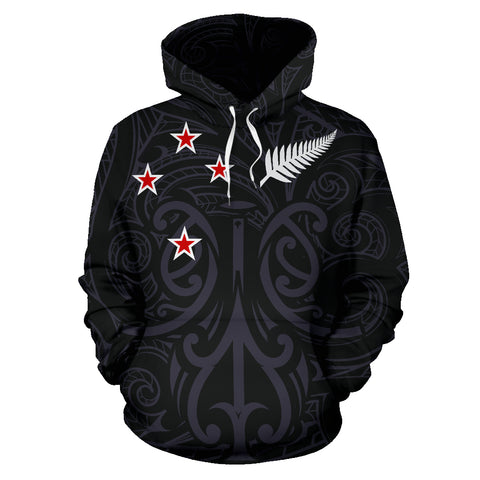 Image of New Zealand - Maori Mask Pullover Hoodie | Clothing | Love The World