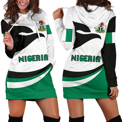 Nigeria Women Hoodie Dress Proud Version | 1sttheworld