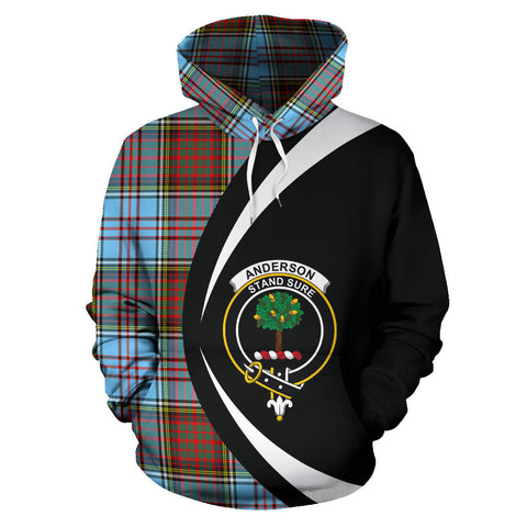 (Custom your text) Anderson Ancient Tartan Circle Hoodie