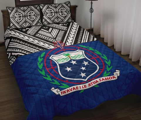 Samoa Quilt Bed Set - Polynesian Blue Version - BN0912