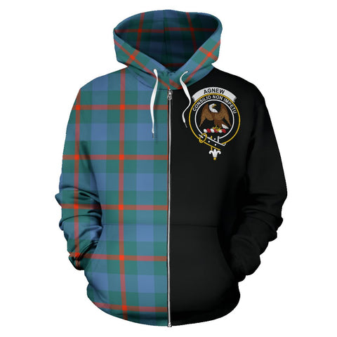 Image of Agnew Ancient Tartan Hoodie Half Of Me | 1sttheworld.com
