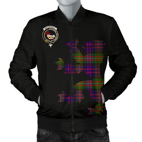 Image of MacDonald (Clan Donald) Tartan Lion And Thistle Bomber Jacket for Men