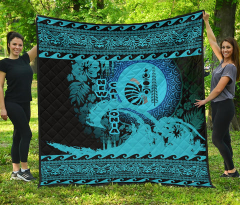 Image of New Caledonia Quilt Wave Navy Design K62