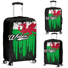 WALES VINTAGE FLAG LUGGAGE COVER A0