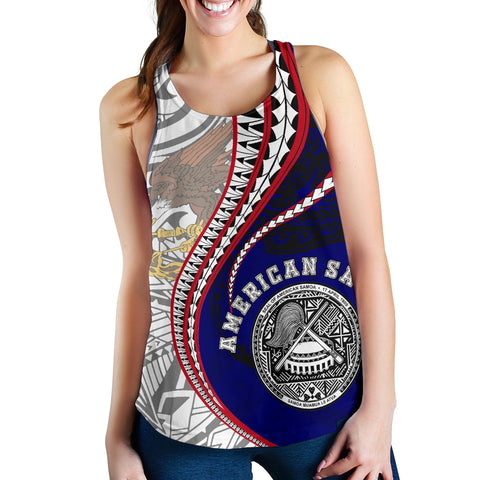 Image of American Samoa Women's Racerback Tank Kanaka Maoli Gen AS TH65