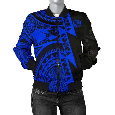 Polynesian Women's Bomber Jackets - Maui Moana Tattoo with Seal Tonga - BN17