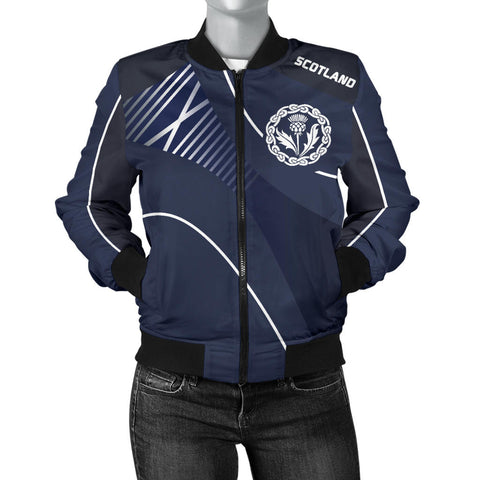 Image of Scotland Women's Bomber Jacket - Increase Version font