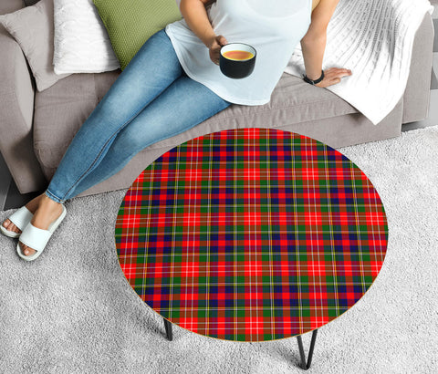 Christie Tartan Circular Coffee Table - BN