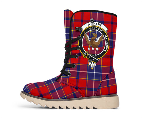 Wishart Dress Tartan Clan Crest Polar Boots