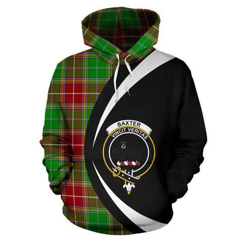 (Custom your text) Baxter Modern Tartan Circle Hoodie
