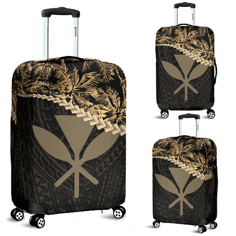 Kanaka Maoli (Hawaiian) Luggage Covers Golden Coconut A02