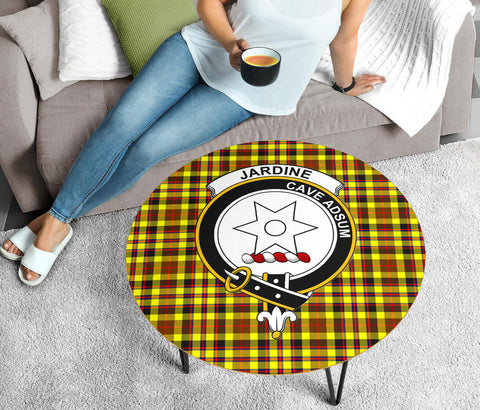 Jardine Clans Tartan Coffee Table,Scottish Clans, Tartan Scotland Table, Clans Badge Table