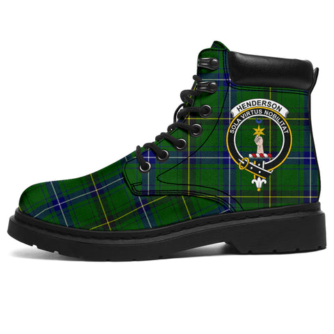 Image of Henderson Modern Tartan Clan Crest All-Season Boots HJ4