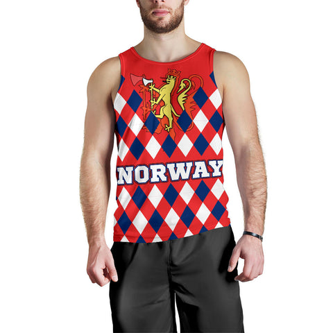 Norway Men's Tank Top - Norway Lion with Flag Color - BN18
