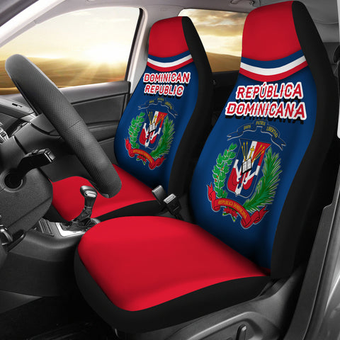 Dominican Republic Car Seat Covers - Vibes Version K8