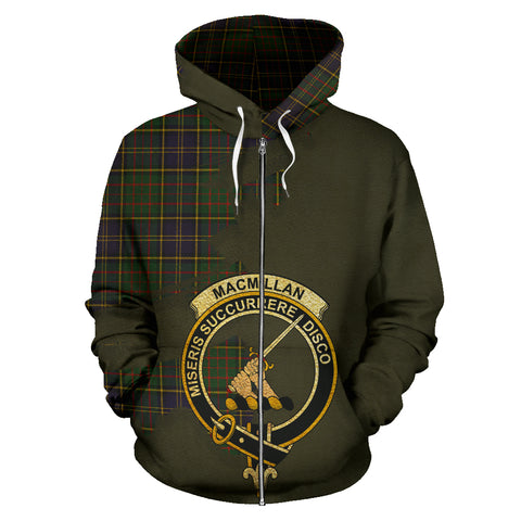 MacMillan Hunting Modern  Royal All Over Hoodie (Zip)