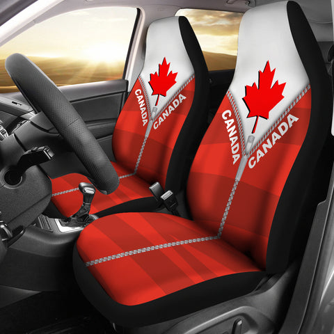 Canada In Me Red Car Seat Covers Zipper Style