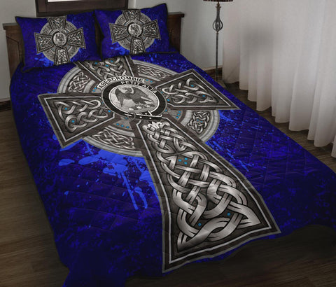 Abercrombie Crest Scottish Celtic Cross Scotland Quilt Bed Set | Over 300 Clans | Home Set
