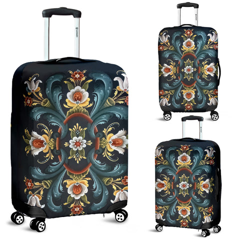 Rogaland Rosemaling Luggage Cover | HOT Sale