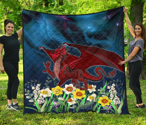 Welsh Premium Quilt - Dragon Daffodil | Home Set | Love The World