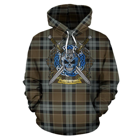 Graham of Menteith Weathered Tartan Hoodie Celtic Scottish Warrior A79 | Over 500 Tartans | Clothing | Apaprel