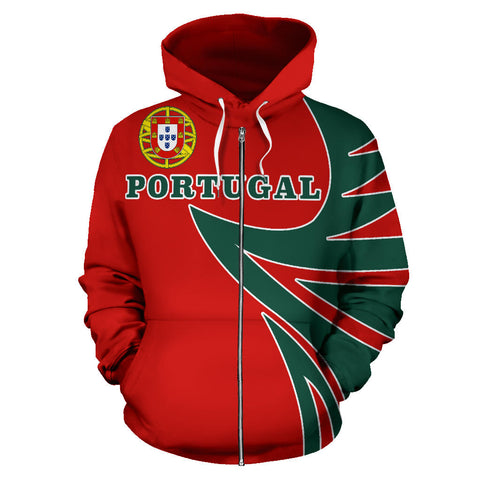 Portugal Sport Zip Up Hoodie - Warrior Style