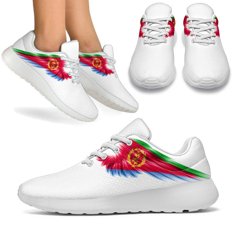Image of Eritrea Sneakers Wings Flag (Women's/Men's) | Shoes | Footwear | High Quality